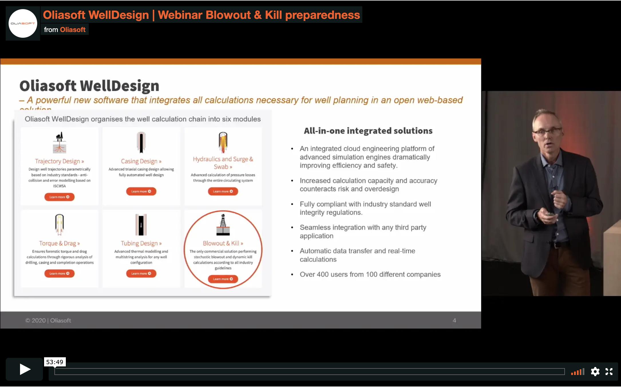 Oliasoft WellDesign Blowout & Kill preparedness webinar